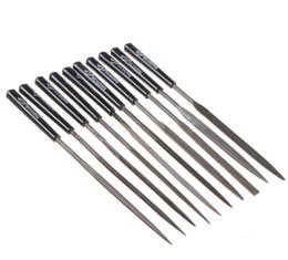 Wholesale metal crimps - 10pcs set Min Files Needles Set Jeweler Diamond Wood Carving Craft Metal Glass Stone Hand Tools