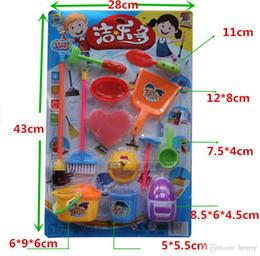 Распределение пластмассы онлайн-Оптовые игрушки дома Игры, инструменты чистки имитации. Детские пластиковые игрушки. Моющий костюм. Дошкольное цветовое случайное распределение