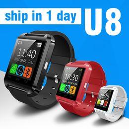 Wholesale Best Smartwatch - Best Android Smartwatch U8 Smart Bluetooth Watch For iPhone 5S 6 6 plus Samsung Note Wrist Smartwatch OTH014