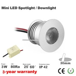 Wholesale Led 3w Ceiling Cree - Cree chip 3W 85-277V input Round Mini LED Kitchen Under Cabinet Lamp LED Recessed Ceiling cut 30mmn Spot light for gallery Display Showcase