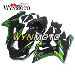 Wholesale Zx6r Frame - Fairings for Kawasaki ZX-6R ZX6R 05 06 2005 2006 ABS Plastics Injection Plasrics Motorcycle Fairing Kit Green Black Body Frames Covers