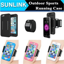 Wholesale Iphone 5s Workout - Gym Workout Outdoor Sporst Running Riding Armband Cover Case For iPhone 6 6S 7 Plus 5S SE Samsung Galaxy S7 Edge Note7 Adjustable Belt Cover