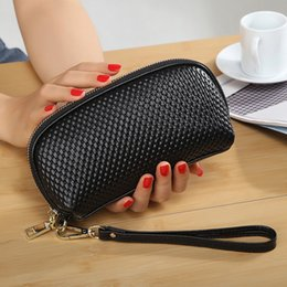 Wholesale Genuine Leather Handbags Organizer - Women Genuine Leather Cosmetic Bag Toiletry Bag Actor Makeup Clutch Bag Professional Organizer Bags Handbags Cell Phone Purse