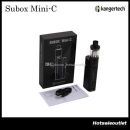 Wholesale kanger mini protank kit - Authentic Kangertech Subox Mini-C Starter Kit W O Battery with Kanger TC 50w KBOX Mini-C Mod and 3.0ml Protank 5 Atomizer 100% Original