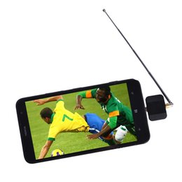 Wholesale High Definition Tv Tuners - DVB-T2 DVB T2 Dongle Receiver HD Digital TV Tuner Satellite Stick For Android Phone Pad Requirement Android OS 4.1 or higher