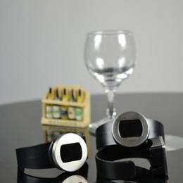 Exhibición de la botella de la barra online-Termómetro de la botella de vino tinto Reloj de visualización LCD electrónico automático Jugo de agua Botellas de leche Medidor de temperatura Bar Tool 8rd F R