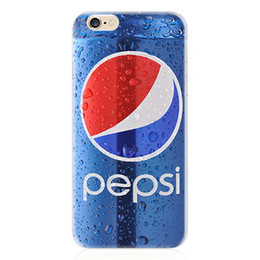 Wholesale Pepsi Phone - Newest 3D Luxury Coke Pepsi For iPhone 6 6S plus 5 5s Phone Case Drink Beer Bottles Cartoon Phone Cases Cover Anti-knock