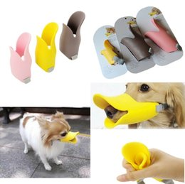 Wholesale Cute Dog Muzzles - New Adjustable Dogs Muzzle Quack Closed Duck Bill Design Protective Cute Mask Bark Bite Stop High Quality Freeship order<$18no track