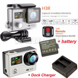 Wholesale Original Dock - Original EKEN H3R 4K Action Camera + Extra Battery + Dock Charger Waterproof Sports DV wifi 1080P 60fps 170 Degree Lens
