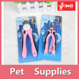 Wholesale Comb Rake Blade - Pets Nail Clipper Cutter Grooming For Dogs Cats Animal Claws Scissor Cut 2 Colors Blue And Pink 160909