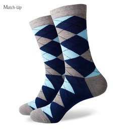 Wholesale Diamond Huf - 2016 new men colorful combed cotton socks Diamond styles,geometric socks,US size(7.5-12) 338
