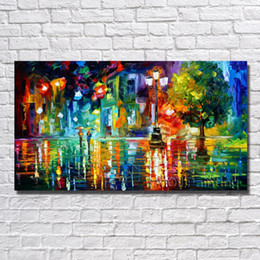 Wholesale large decorative picture - Large Wall Canvas Abstract Landscape Pictures Wall Art Home Decoration Oil Painting Decorative No Framed