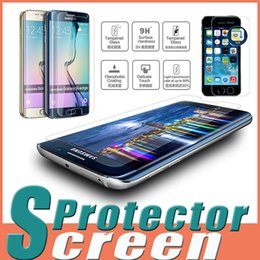 """Wholesale Moq Screen Protector - 9H Explosion Proof Premium Tempered Glass Screen Protector Film For iPhone 7 Plus 6S SE 5S 4.7""""5.5"""" Samsung S7 S6 Edge MOTO G3 MOQ:10pcs"""