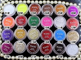 Wholesale Loose Pigment Eyeshadow Wholesale - Newest High quality NANI Pro Makeup Loose Powder Glitter Eyeshadow Eye Shadow Face Cosmetic Pigment 24 colors DHL