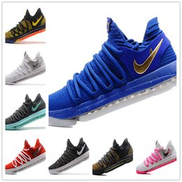 Wholesale Low Nylon - New Air KD Basketball Shoes 2017 Top quality KD 10 Peach Jam Oreo Be True UniversIty Red White Chrome Outdoor Sports Shoes
