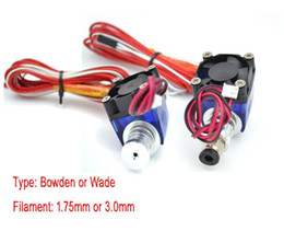 Wholesale Wade Extruder - Freeshipping Lastest V6 Version All metal J-head Hotend Wade or Bowden Extruder with Heater & Thermistor for 1.75 3.0mm 3D Printer Parts