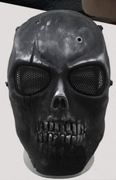 protetor de airsoft Desconto Hot Airsoft Mask Skull Full Protective Mask Militar Festive Party Supplies Party Masks