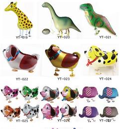 Wholesale Model Farm - Wholesale Walking Pet Balloon Animal Balloon Pets Air Walker Foil Aluminum Birthday Party toys children Foil Toys Zoo Farm Pets