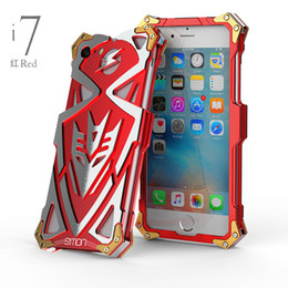 Wholesale Heavy Metal Iphone Cases - For Iphone 7 8 plus case Shield Flash Design Armor Heavy Dust Metal Aluminum Thor Ironman case cover for iphone 6 6S plus