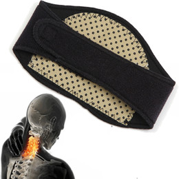 Wholesale Heated Belts - Wholesale-1Pcs Tourmaline Magnetic Therapy Neck Massager Cervical Vertebra Protection Spontaneous Heating Belt Body Massager