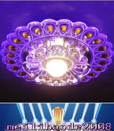 Wholesale Holiday Doors - 3W Crystal Ceiling Lights Led Crystal Light Discoloration Dome Light Indoor Ceiling Light LED Door Head Light Led Corridors Ceiling Light MY