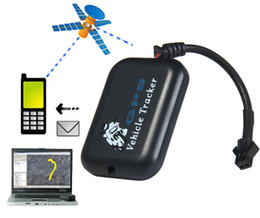 Wholesale Vehicle Tracking Systems Car - Mini GSM GPRS Tracking system SMS Real Time Car Vehicle Motorcycle Monitor Tracker Rastreador Localizador GPS Motorcycle TK102b