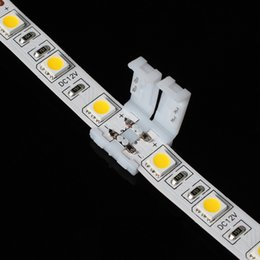 Wholesale Rgb Led Connector 4pin 3528 - Newest led strip connectors for 8mm 3528 and 10mm 5050 smd and 4pin DC RGB 5050 LED strips light no welding quick led