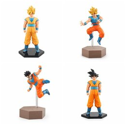 Wholesale Kid Gohan - Anime Dragon Ball Z Fighting Super Saiyan Ver. Son Gohan Son Gokou PVC Action Figure Collectible Model Toy free shipping in stock
