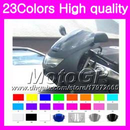 Wholesale 1997 Black Kawasaki Zx6r - 23Colors Windscreen For KAWASAKI NINJA ZX6R 94 95 96 97 ZX-6R 6 R ZX 6R 1994 1995 1996 1997 Chrome Black GPear Smoke Windshield