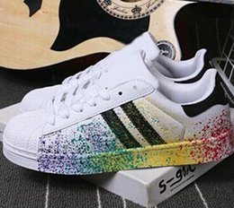 Wholesale Tpr Shell - 2016 New Fashion Sneakers Stan Smith Shoes Color Ink Shell Head Classic Black And White Shoes Men And Women Shoes Running Shoes