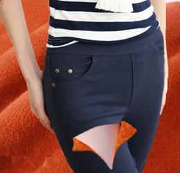Wholesale Leggings Rivets - 2017 Hot Selling Plus Size Fat Leggings Winter Women High Waist Cotton Cashmere Blend leggings Capris