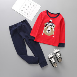 Wholesale Cheap Brand Clothes For Kids - cheap kids clothes wholesale high quality cotton children homewear clothes long sleeves pajamas underwear for child cute clothing set suits