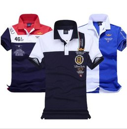 Wholesale Black Air Force Ones - Brand fashion aeronautica militare embroidery men's air force one 1 Men Polo shirt,polo diamond Fashion shark clothing