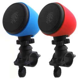 Wholesale Waterproof Mp3 For Motorcycles - Portable Outdoor Motorcycle Bicycle Wireless Bluetooth Speaker with Mic and Mount Bike Mini Riding Speaker for Mobile Phone iPad Tablet