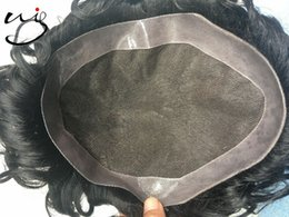 Wholesale Cheap Real Human Hair Wigs - top quality cheap Indian real human natural hair wigs for men , durable swiss lace men hair replacement system,hair piece,men toupee
