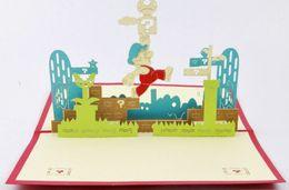 Wholesale Super Mario Wedding - Super Mario pop up card 3d cards wedding 3d greeting card birthday invitation 3d card