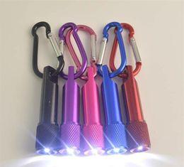 Il la cosa migliore Portachiavi portatile della torcia elettrica della lega di alluminio della torcia elettrica del mini LED con l'anello del moschettone Portachiavi LED mini Torcia elettrica Mini-trasporto libero della luce da