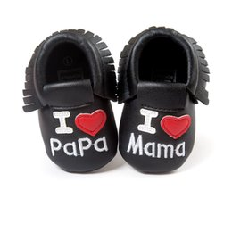 Wholesale Baby Firstwalker - Wholesale- Toldder Baby Shoes Leather Slip on Shallow Letter Pint Princess Shoes Infant Anti-slip Firstwalker Crib Shoes 0-18M S28