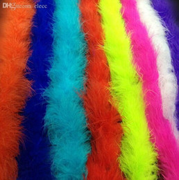 Wholesale Fancy Dress Burlesque - Wholesale-2M Marabou Feather Boa For Fancy Dress Party Burlesque Boas Costume Accessory Free shipping