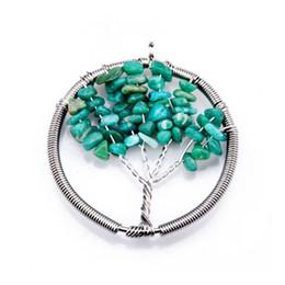 Wholesale Gemstone Pendants China Wholesalers - Creative Necklace Hanging Jewelry Tree Natural Gemstones Pendant Necklace gravel life tree necklace wholesale free shipping