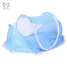 Wholesale Foldable Baby Mosquito Net Tent - Wholesale- Baby Travel Bed Portable Folding Baby Crib Mosquito Net Portable Cots Foldable Tent