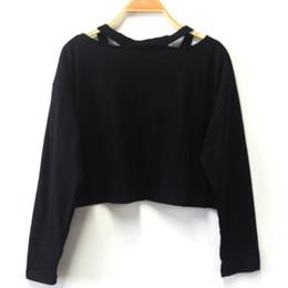 Wholesale Korean Sweatshirts For Women - 2017 Sexy Crop Hoodies Sweatshirts Women Harajuku Flower Short Hoodies for Women Causal Off Shoulder Korean Sweatshirt