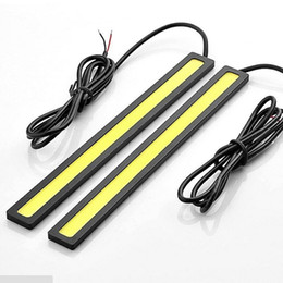 Wholesale Driving Light Led Amber - 2pc White 17cm Car LED COB DRL Ultra Bright LED Fog Driving Daytime lights 12V