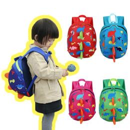 Wholesale Wholesale Character Backpacks For Kids - Anti-lost Kids Backpack Cute Cartoon Dinosaur Animal Print Children Backpacks for Boys Girl Kindergaden School Backpacks