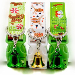 Wholesale Wholesale Small Bells - 2 Sizes Adjustable Pet Dog Cat Collar Christmas Decor Puppy Xmas Style Collars Pet Gifts With Small Bell Mayitr New Arrival