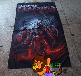 ленточные баннеры Скидка Mayhem группа флаг,дэт-метал,полиэстер 90*150 см,цифровая печать,черный металл Mayhem баннер,убой мечты
