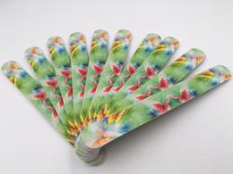 Ongles design images en Ligne-Lime à ongles coloré de mode Mignon Fleur Papillon Image Design Ponçage Papier de Verre Droit Bord Nail Art Fournitures