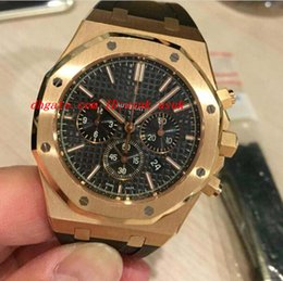 Wholesale Ceramic Rose Watch - Luxury Watches Chronograph 18kt Rose Gold 41mm 26320OR.OO.D088CR.01 Automatic Mens Watch Men Watches Men's Watch Top Quality