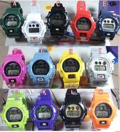 Wholesale Electronic Led Watch - New Shocking Sport Electronic dw 5600 6900 Women Watch Digital LED Relogio Cartoon Candy Jelly G Man Boy Girl Watches Clock