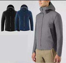 Wholesale Men Black Nylon Windbreaker Jacket - Outdoor hiking lightweight windbreaker men luxury brand breathable waterproof jacket hooded rain jacket chaqueta impermeable hombre 17313